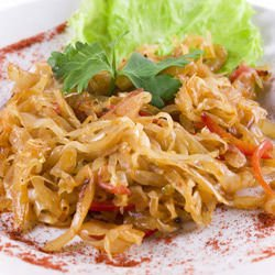 Cabbage with Tomatoes