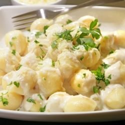 Potato Gnocchi in Cream Sauce