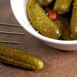 Pickled Gherkins in a Drum