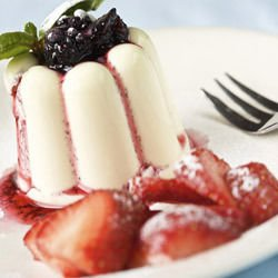 Milk Cream with Strawberry Sauce