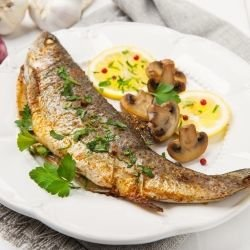 Trout with Mushrooms
