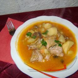Stew with Pork and Leeks