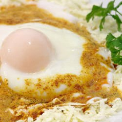 Fried Eggs with Mustard