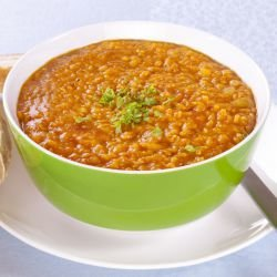 Soup of Red Lentils with Bulgur