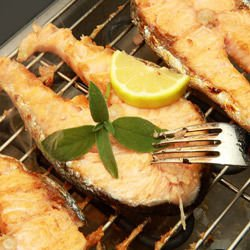 Grilled Carp with Saffron