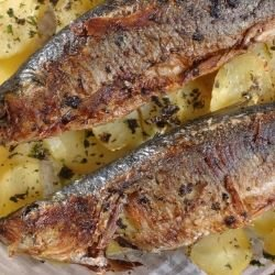Oven-Grilled Bonito with Potatoes