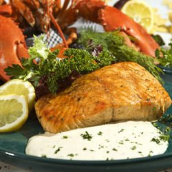 Salmon with Yogurt Sauce in the Oven