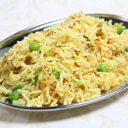 Fried Rice with Peas and Onions