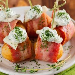Roasted Potatoes with Ham