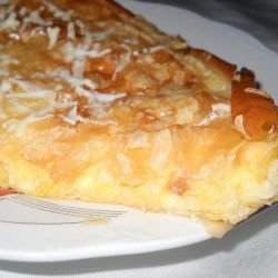 Rhodopean Patatnik with Feta Cheese and Cheese