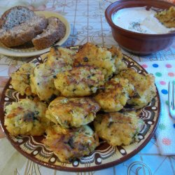 Messy Potato and Zucchini Meatballs with Sauce