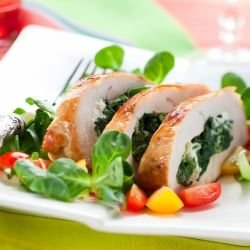 Chicken Rolls with Mushrooms and Spinach