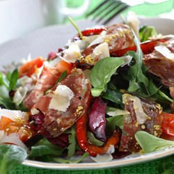 Salad with Spinach and Prosciutto