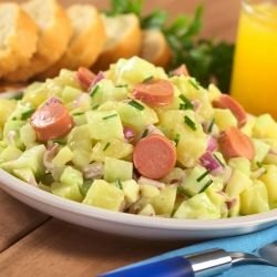 Potato Salad with Vienna Sausages