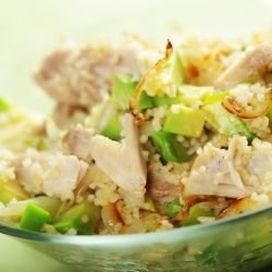 Moroccan Salad with Chicken and Avocado