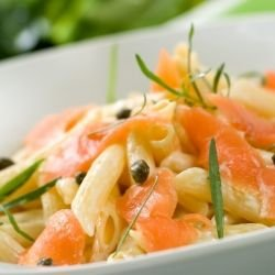 Macaroni Salad with Salmon Fillet