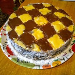 Fancy Checkerboard Cake