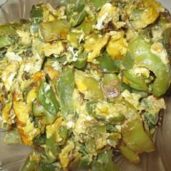 Easy Fried Peppers with Eggs
