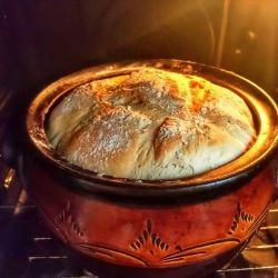Country-Style Bread in a Clay Pot