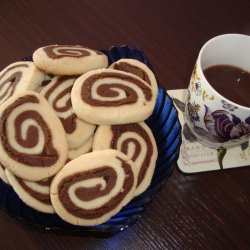 Striped Spiral Shortbread