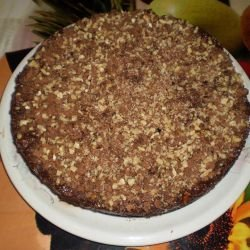 Syruped Walnut Cake