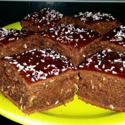 Cakes with Coconut and Raspberry Jam