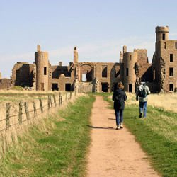Castles in Scotland -  Slains Castle