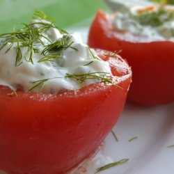 Snow White Salad in Tomatoes