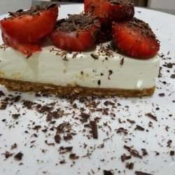Cheesecake with Cream Cheese and Confectionery Cream