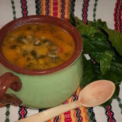 Tasty Spinach Soup with Rice