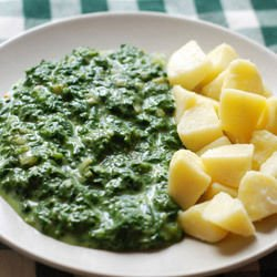 Spinach Puree with Potatoes
