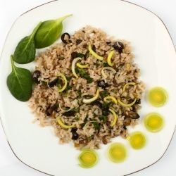 Spinach with Bulgur