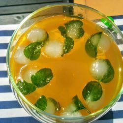 Iced Tea of Ginger, Mint and Lemon