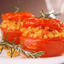 Stuffed Tomatoes with Wheat
