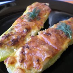Stuffed Zucchini in the Oven with Feta and Eggs