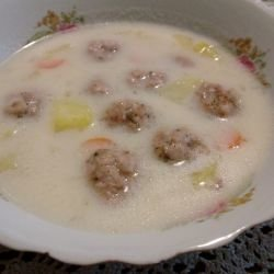 Meat Ball Soup with Noodles