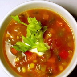 Vegetable Soup with Onions