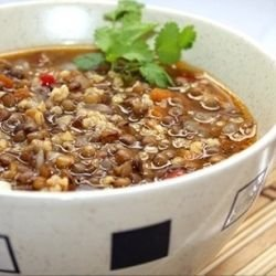 French Lentil Soup with Bulgur