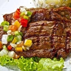 Marinated Veal Steak with Soy Sauce