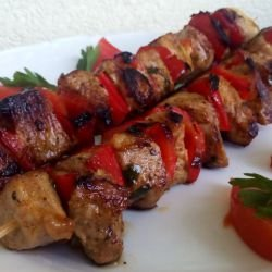 Marinated Pork Shish Kabob on the Grill
