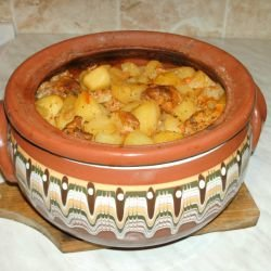 Easy Pork with Potatoes in a Clay Pot