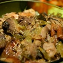 Casserole with Leeks and Pork