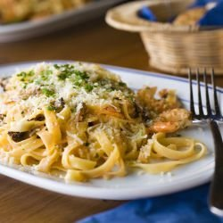 Pasta Verde with Mussels