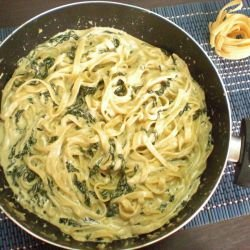 Tagliatelle with Spinach and Mascarpone