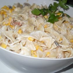 Tagliatelle with Bacon and Mushrooms