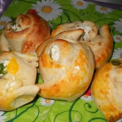 Doughy Roses with Feta Cheese