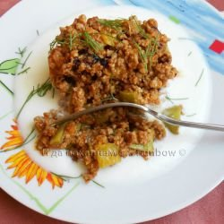 Zucchini with Minced Meat Under a Lid