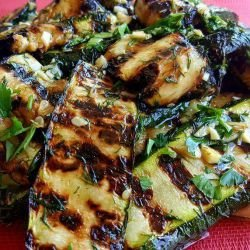 Marinated Zucchini on the Grill