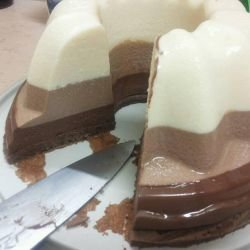 Triple Chocolate Cake in a Silicone Form