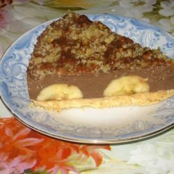 Cocoa Cake with Bananas without Baking